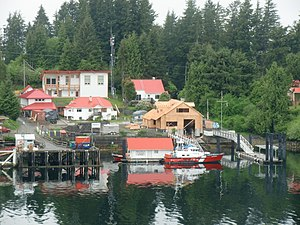 Bamfield - Canadian Coast Guard Station Bamfield and CCGS Cape McKay as seen from Bamfield Marine Sciences Centre