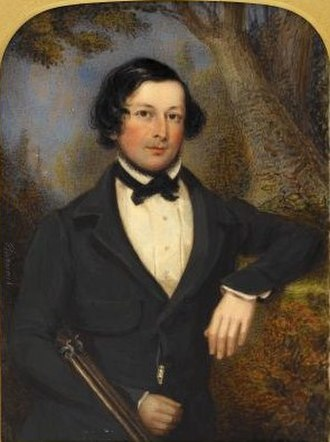 Philip Augustus Barnard - Portrait miniature of Mr. Charles Brett (on ivory, 1841)