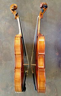Baroque violin Walter Mahr, 2010 - Violin Joseph Chevrier, 1889.jpg