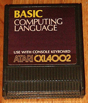 Atari BASIC - The 8K ROM Atari BASIC cartridge for Atari 8-bit computers.