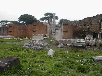 Basilica Aemilia - The remains of Basilica Aemilia.