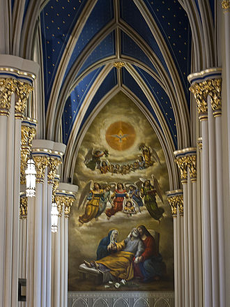 Luigi Gregori - Image: Basilica of the Sacred Heart (Notre Dame, IN) interior, The Death of Saint Joseph