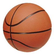Traditional eight-panel basketball