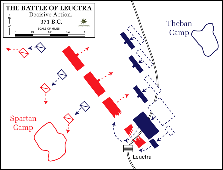 Battle of Leuctra, 371 BC - Decisive action