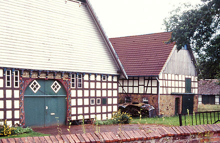 Typical Westphalian houses Bauernhof Melle 2.jpg