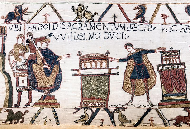 Marginalia @ Cie. - Page 4 800px-Bayeux_Tapestry_scene23_Harold_sacramentum_fecit_Willelmo_duci