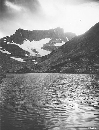 Beartooth National Forest - Lake and Glaciers, Date unknown.  Source: Forest Service Northern Region