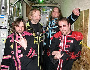 Beatallica - (Left to Right) Ringo Larz, Jaymz Lennfield, Kliff McBurtney, Grg Hammetson