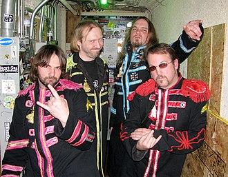 Beatallica - (Left to Right) Ringo Larz, Jaymz Lennfield, Kliff McBurtney, Grg Hammetson