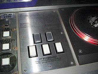 Beatmania - Keyboard and turntable controls for beatmania.