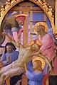 Beato angelico, pala strozzi della deposizione, con cuspidi e predella di lorenzo monaco, 10.JPG