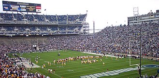 North Central Pennsylvania - Beaver Stadium on the campus of Pennsylvania State University.