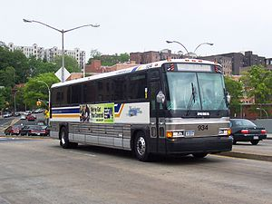 Bee-Line MCI 102A2 #934 deadheading in The Bronx..