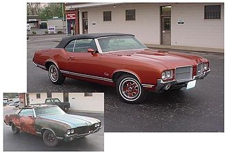 Preservation and restoration of automobiles - Before and after, 1971 Oldsmobile Cutlass