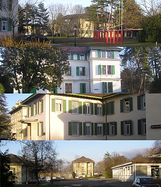 Thônex - Views of the grounds of the Clinique de Belle-Idée à Genève