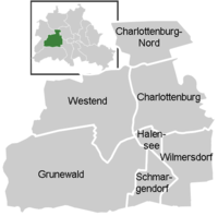 District map of Charlottenbrg-Wilmersdorf