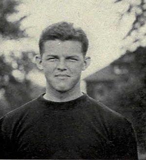Bernard Kirk - Bernard Kirk cropped from 1922 Michigan football team photograph