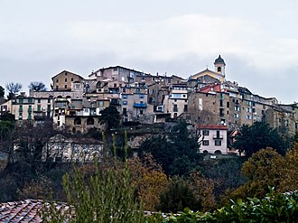 Berre-les-Alpes - A general view of the village