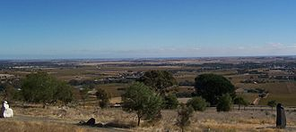 South Australian wine - The Barossa Valley overlooking the town of Bethany