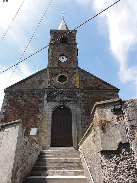 Bettrechies (Nord, Fr) église, façade