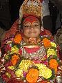 Bhairav in chariot during indra jatra festival in kathmandu, Nepal.JPG