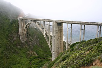 Big Sur bridge, Monterey County