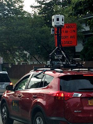 Bing Maps - Bing Maps Streetside car with cameras on the roof