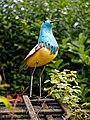 Bird sculpture garden ornament in Nuthurst, West Sussex, England 1.jpg