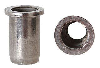 Rivet nut nut designed to be used on sheet metal
