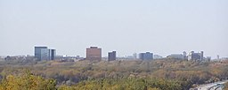 Bloomingtons skyline i oktober 2006.