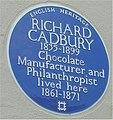 Blue plaque Richard Cadbury.jpg