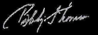 Bobby Thomson - Bobby Thomson's signature