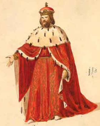 Simon Boccanegra - Doge's costume for the 1881 revision