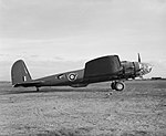 Boeing Fortress Mk I at Heathfield, near Prestwick in Scotland, shortly after arrival from the United States, May 1941. E(MOS)276.jpg