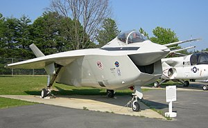 Boeing X-32B on display at the Patuxent River ...