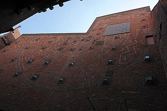 Brick Expressionism - Bricks set to form a complex pattern, Böttcherstrasse, Bremen.