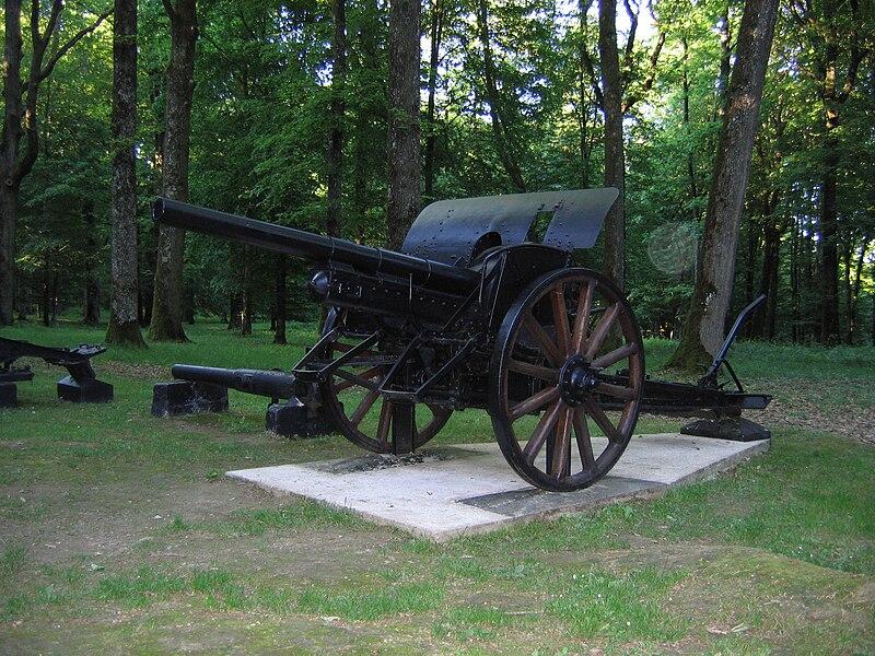 Gun around the Marine Memorial of Belleau Wood, France.