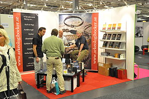 English: Corner exhibition stand at the Götebo...
