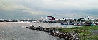 Bonavista, Newfoundland and Labrador - Bonavista harbour, looking north. The large building in the center of the photo houses a replica of John Cabot's ship, Matthew.