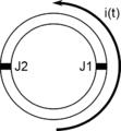 Boucle supraconductrice avec deux jonctions Josephson.png