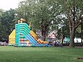Bouncy castle with animal decoration at London Zoo - geograph.org.uk - 823549.jpg