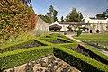 Box hedge and tearoom - Aberglasney House - geograph.org.uk - 1484322.jpg