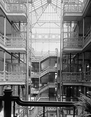 Sumner Hunt - Interior atrium of Bradbury Building, Downtown Los Angeles.