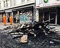 Brandreste Barrikaden a Schulterblatt Hamburg 2017-07-08.jpg