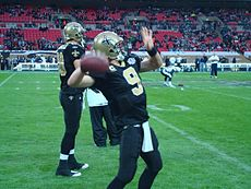 Quarterback Drew Brees was named MVP in Super Bowl XLIV. 419fb22e0