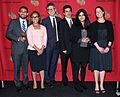Brian Reed, Ana Arana, Ira Glass, Sebastian Rotella, Habiba Nosheen, and Julie Snyder, May 2013.jpg