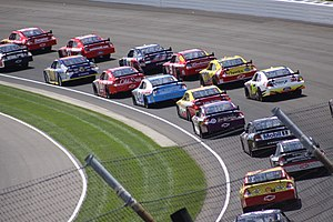"English: Picture from the ""Brickyard 400&..."