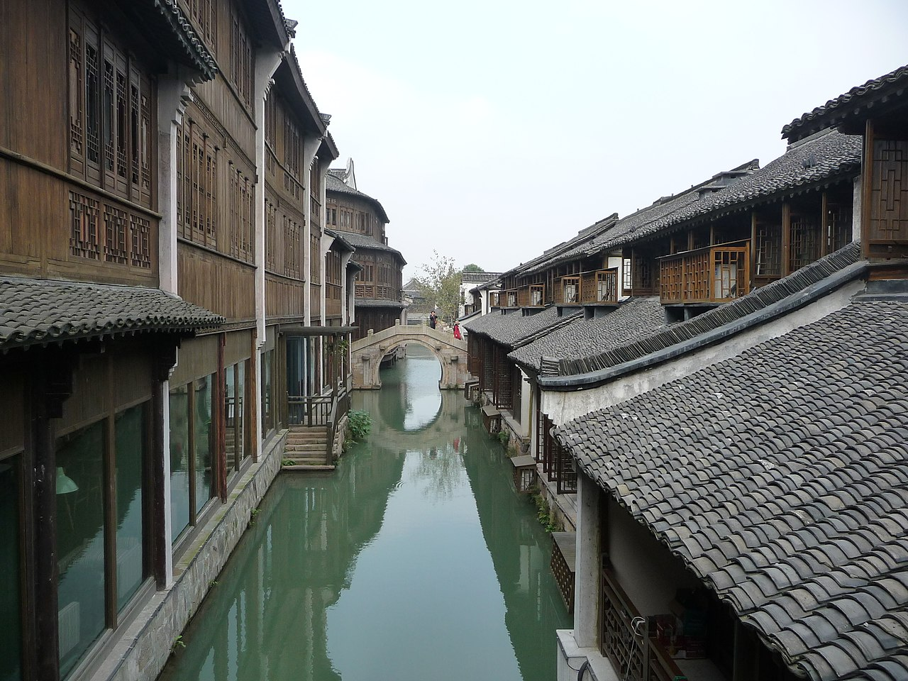 "The canals of Wuzhen have led to it being nicknamed the ""Venice of the East""[1]"