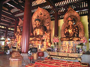 English: Buddhist statues in Guangxiao Temple ...
