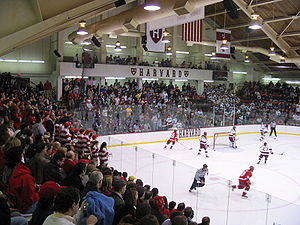 Cornell–Harvard hockey rivalry - Fans from both Cornell and Harvard fill Bright Hockey Center, also referred to as Lynah East, during a Cornell-Harvard game in 2005.